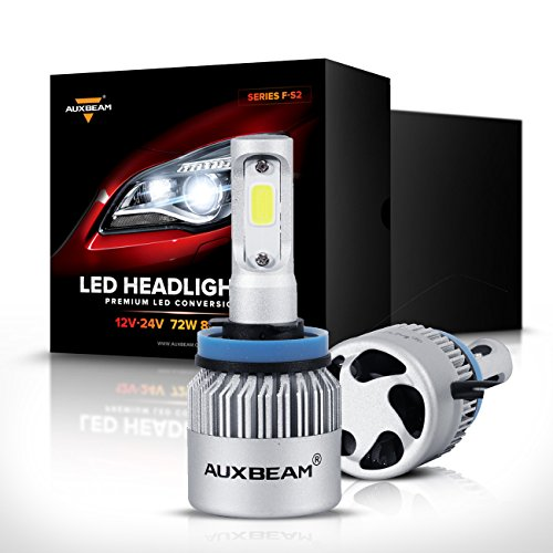 Auxbeam LED Headlights F-S2 Series H11 LED Headlight Bulbs with 2 Pcs of H11 LED Conversion Kits 72W 8000LM Bridgelux COB Chips Fog Light - 1 Year Warranty
