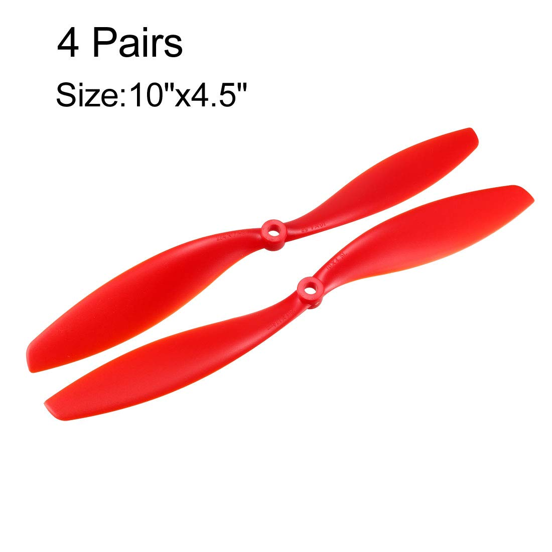 Nylon Orange 10pcs with Adapter Rings uxcell RC Propellers CW 7035 7x3.5 Inch 2-Vane Fixed-Wing for Airplane Toy