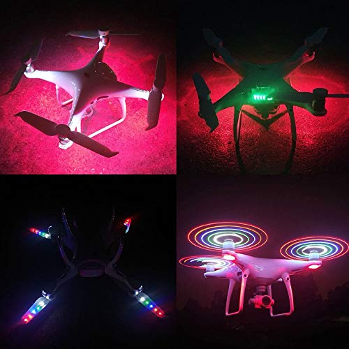 Wikiwand LED Flash CW CCW Propellers Props Part for Phantom 4/4 Pro/Adv/ RC Drone by Wikiwand (Image #7)