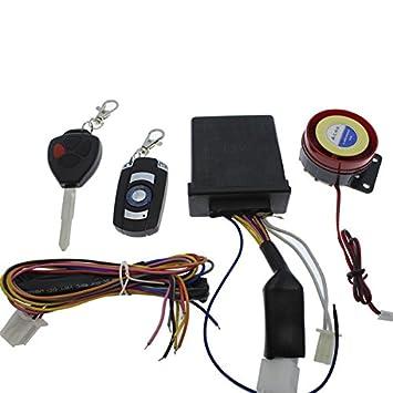 Yatek Alarma para Moto Universal de 1 vía. Sencilla, Potente y fácil instalación