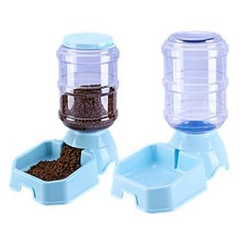 JL Alimentador Automático De Mascotas Mascotas Dispensador De Agua Square3.8L De Gran Capacidad Dispensador De Comida para Gatos,Blue: Amazon.es: Hogar