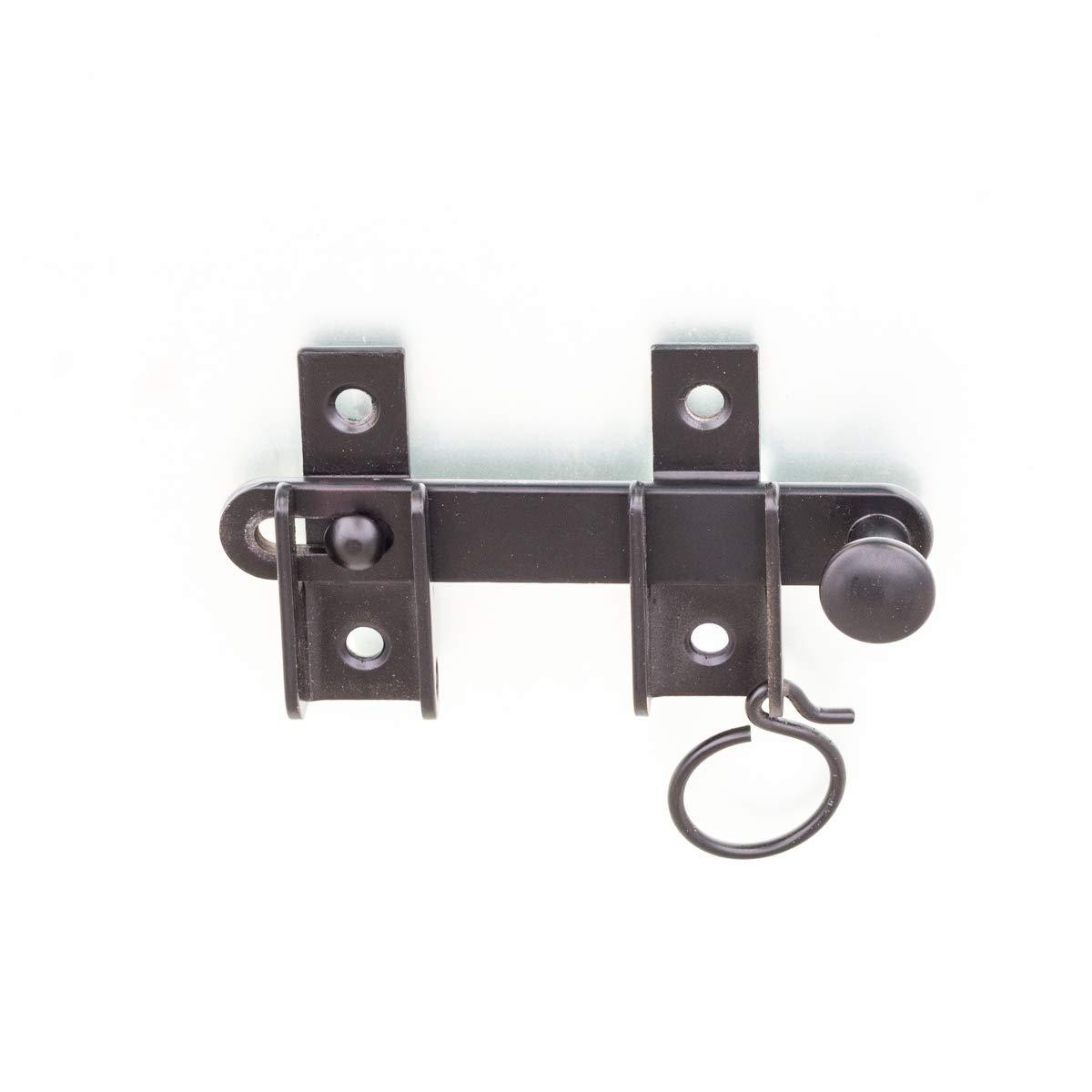 Antikas - cerrojo contraventana puerta - cerrojo de como cierre puerta - cerrojo de hierro color negro