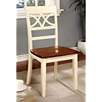 247SHOPATHOME Idf-3552WC-SC Dining-Chairs, Vintage White