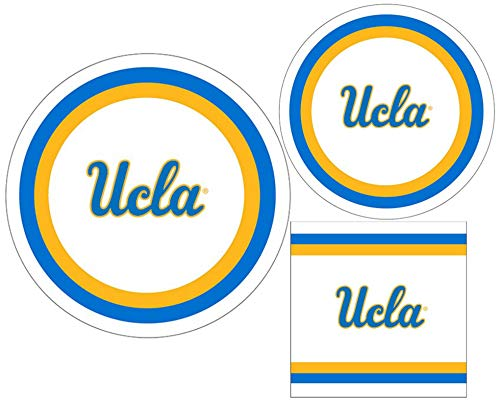 (UCLA Bruins Party Supply Pack - Bundle Includes Paper Plates and Napkins for 10 Guests)