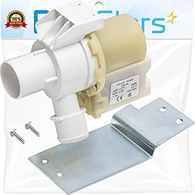 Ultra Durable WH23X10030 Washer Drain Pump Motor Replacement part by General Electric Hotpoint Washer- Replaces WH23X0081 WH23X0091 WH23X0092
