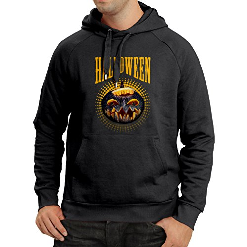 Hoodie Halloween Pumpkin - Clever Party Costume Ideas 2017 (X-Large Black Multi Color) ()