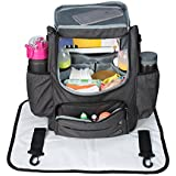 Diaper Bagbackpack,Large Capacity Baby Bag, ABClife Nursing Bag and Multi-functional Waterproof Travel Backpack with Stroller Straps Nappy Bags for Baby Care (black)