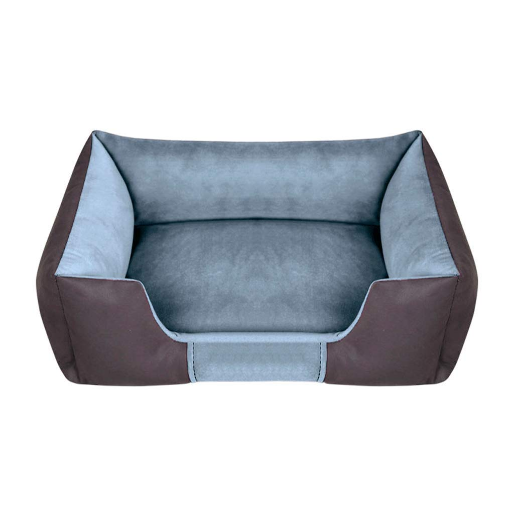 ペット用ベッド/クッションふわふわベッド保温防寒 暖かい休憩所 折りたたみ 水洗い可 (色 : 緑, サイズ さいず : L l) B07Q9KM2LF Gray M M|Gray
