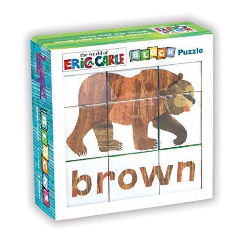 Mudpuppy The World of Eric Carle Brown Bear Puzzle - Colorful Puzzle Pieces Form 6 Lovable Book Characters for Ages 1-3
