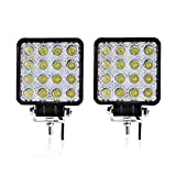 Spead-Vmall 2pcs one pack 4 inch square 48w led work light off...