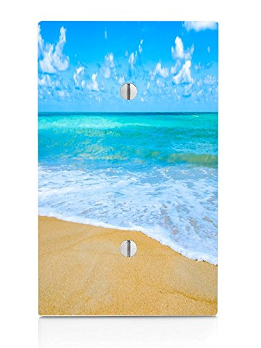 Tropical Caribbean Beach Ocean Water Single Blank Electrical Switch Plate