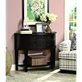 Coaster Casual Cappuccino Console Table Two Drawers and One Shelf