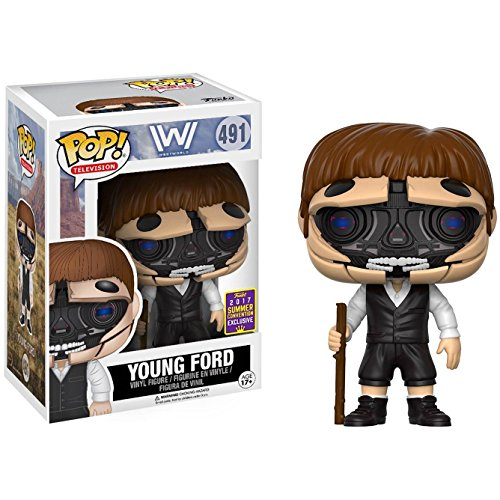 Funko Young Ford (2017 Summer Con Exclusive): Westworld x POP! TV Vinyl Figure & 1 PET Plastic Graphical Protector Bundle [#491 / 15104 - B]