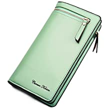 iLapland faux Leather Multi-purpose Clutch Wallet Case for Smartphones (Olive green)