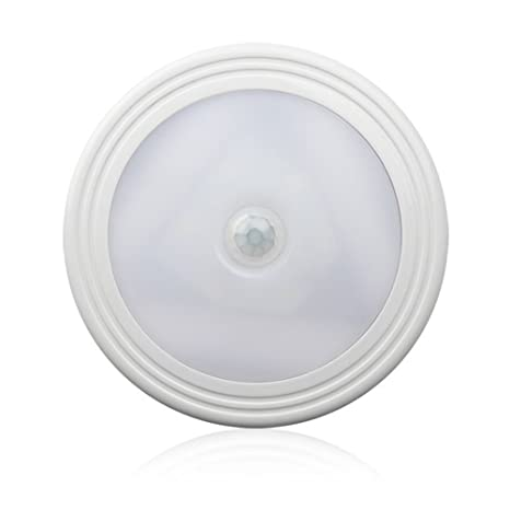 LEDMOMO Sensor de movimiento de luz LED, funciona con pilas, luz LED de pared