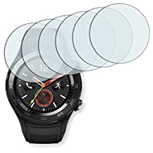 6x Golebo Crystal Clear screen protector for Huawei Watch 2 - (Transparent screen protector, Air pocket free application, Easy to remove)