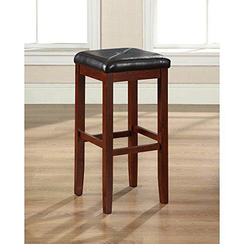 Crosley Furniture Upholstered Square Seat 29-inch Bar Stool - Vintage Mahogany (Set of 2)