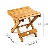 URFORESTIC 100% Natural Bamboo Folding Stool for