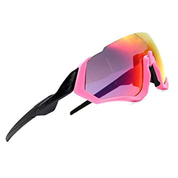 d4b1e60c5f ZoliTime 2018 New Oakley OO9401flight Jacket Gafas de Ciclismo (Rosado):  Amazon.es