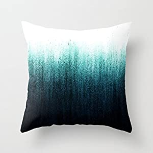 Amazoncom Teal Ombre Throw Pillows Decorative Cute Pillow Covers