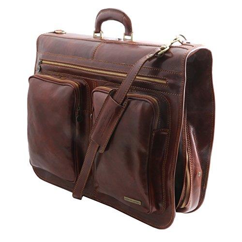 830304 - TUSCANY LEATHER: TAHITI - Housse de transport vêtements, marron foncé