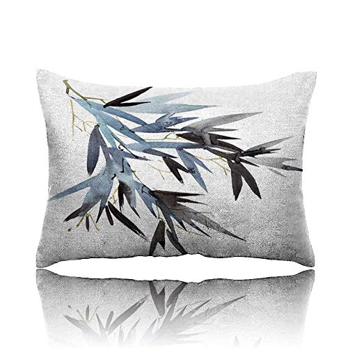 Travel Pillow Watercolor Bamboo Leaves Branch Memory Foam Pillow 13