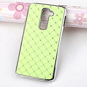 Hot Sell New Fashion Style Deluxe Bling Diamond Hard Case Cover Skin For LG G2 T-Mobile D801 D802 Phone (Green)