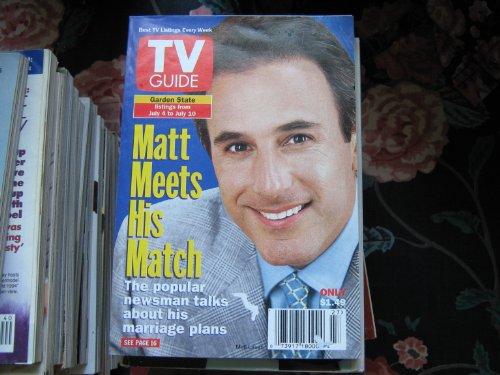 TV Guide July 4-10, 1998 Matt Lauer (Vol. 46)