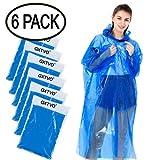 GXTVO Rain Ponchos Disposable, Emergency Poncho with Hood for Women Men