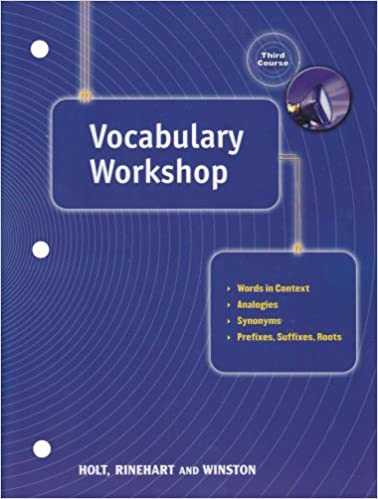 Vocabulary Workshop Elements Of Language Grade