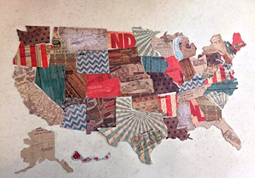 US States Small Die Cuts, 50 pcs,