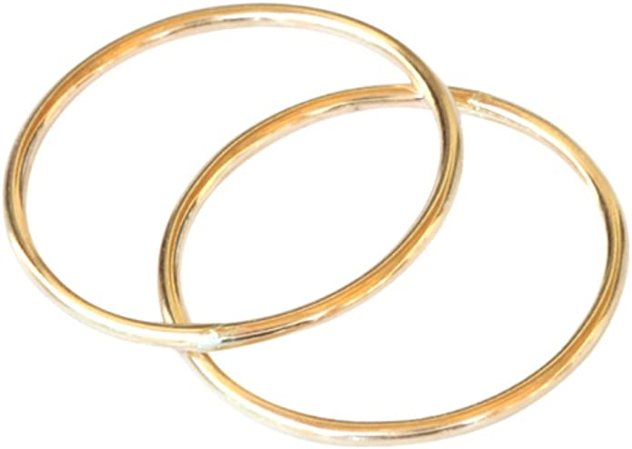 14k Gold Filled 1mm Plain Band Midi Above the Knuckle Adjustable Toe Ring One Size Fits All Most r02gfTRadj