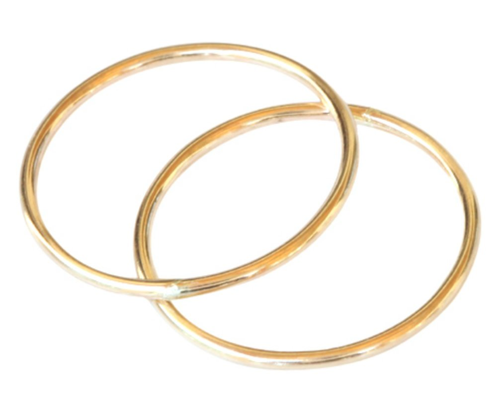 14k Gold Filled Double 1mm Thin Band Toe Rings (5)
