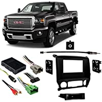 Fits GMC Sierra 2500HD/3500HD 2015 Multi DIN Harness Radio Install Dash Kit