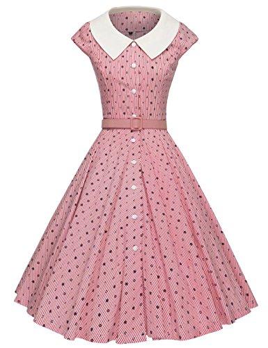 50s style boat neck dress - 8