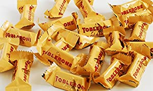 Toblerone Tiny Swiss Milk Chocolate With Honey and Almond Nougat 90 Pcs