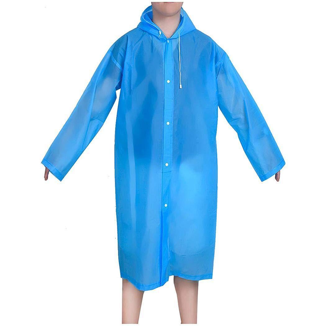 Adolenb Impermeable para Adultos Poncho de Lluvia Transparente Impermeable Reutilizable Eva Rainwear