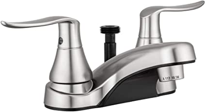 Dura Faucet Chrome DF-PL700LH-CP RV Bathroom Faucet with Winged Levers