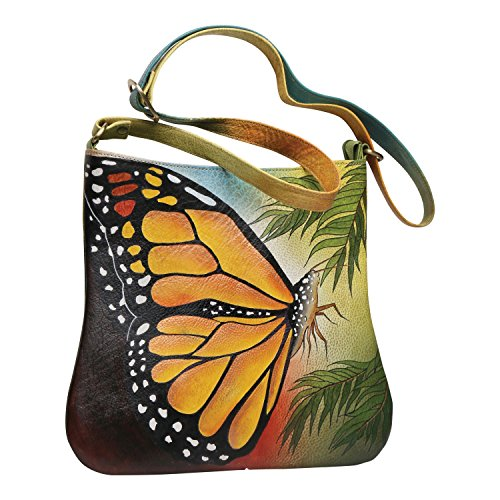 Butterfly Catalog - Handpainted Butterfly Shoulder Bag - Leather