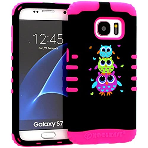 Galaxy S7 Case, Hybrid Heavy Duty Rugged Armor Kickstand Shock Proof Impact Resistant Grip Cover for Samsung Galaxy S7 (Cute Owl / Pink) Sales
