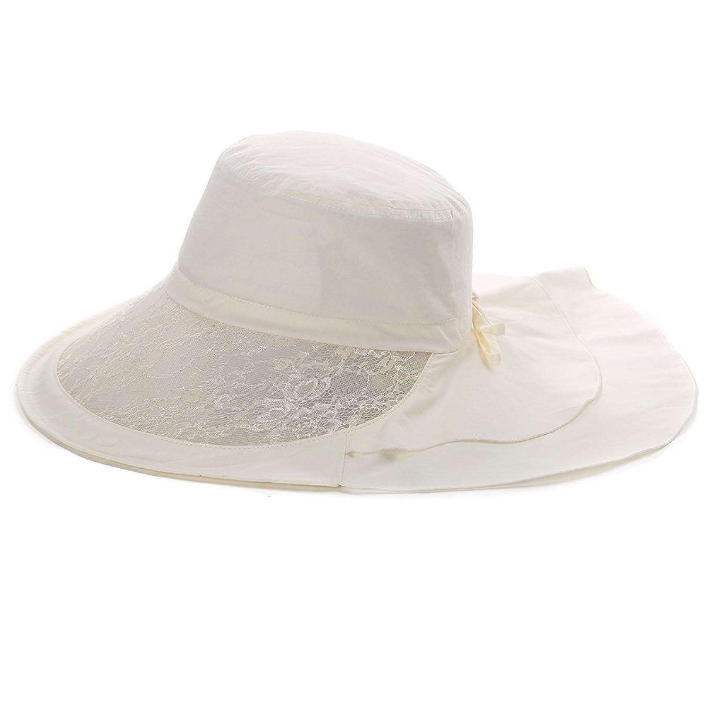 Siggi(シッギ) コットン・リネン つば広 日よけ帽子 99%UVカット