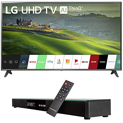 LG 75UM6970 75-inch HDR 4K UHD Smart IPS LED TV (2019) Bundle with Deco Gear Home Theater Surround Sound 31-inch Soundbar and 6ft Optical Toslink 5.0mm OD Audio Cable