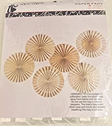 Burlap and Lace Printed Paper Fans, 14\