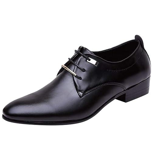 Zapatos de Cuero Hombre Oxford Zapatos De Cuero De Negocios ...