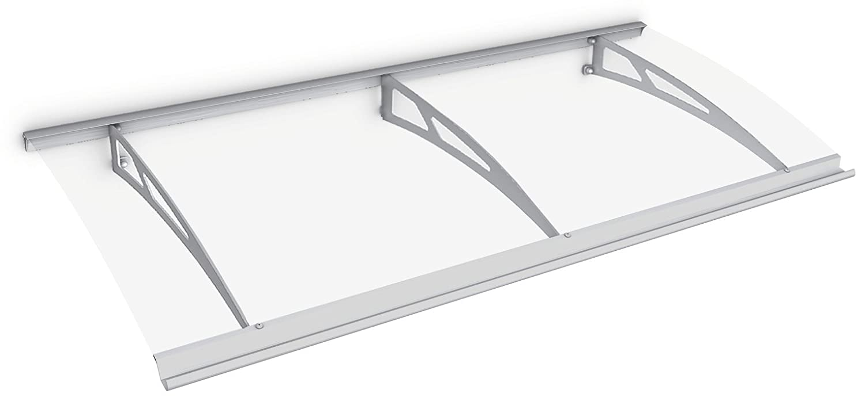 Schulte Vordach Überdachung Haustürvordach 200x90cm Polycarbonat klar Edelstahl Pultbogenvordach