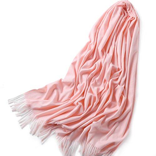 RENYZ.ZKHN Pure Farbe Scarf Men and Damens General Temperament Fashion Soft Large Scarf Shawl 65  190Cm