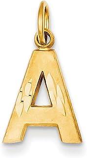 Lex & Lu 14k Yellow Gold Initial A Charm LAL74677