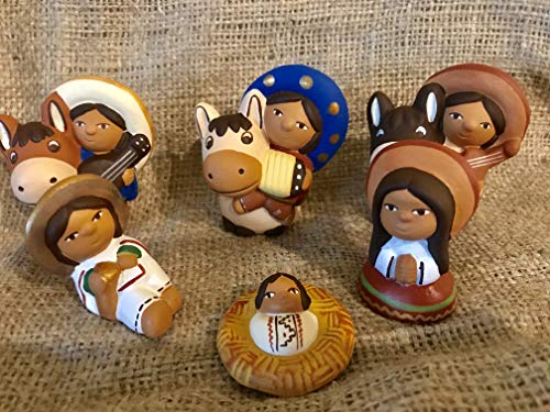 Nativity Scene.Mexican Style. by Zoeartcrafts