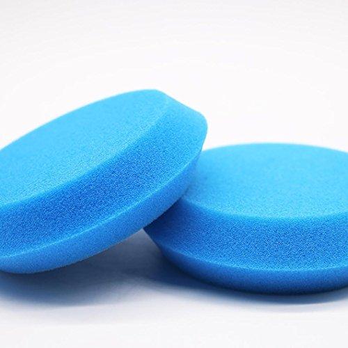 LtrottedJ Car Foam Waxing Pads Vehicle Sponge ,Applicator Clean Paint Polish Polishing (Blue)