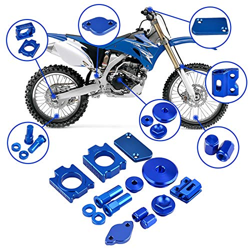 CQQS STORE - Covers & Ornamental - Brake Reservoir Covers Line Clamp Oil Filler Engine Plugs Air Valve Cap Lock Nuts Spacers Kit for YZ250F YZ450F 14-17 1 PCs
